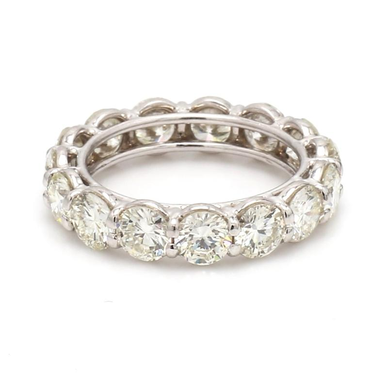 5.05CTW ROUND BRILLIANT CUT ETERNITY BAND RING