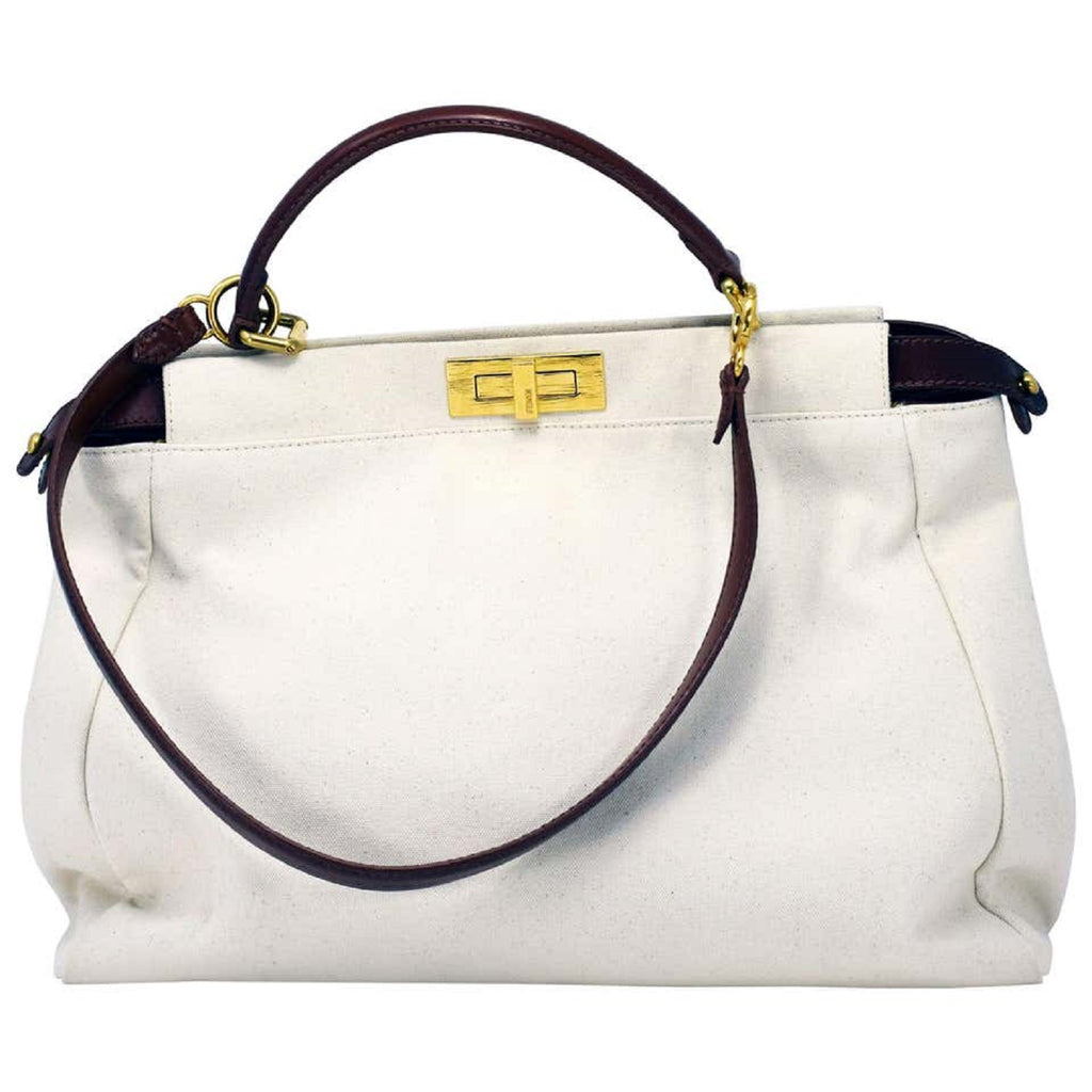 Fendi Peekaboo Large Canvas Handbag