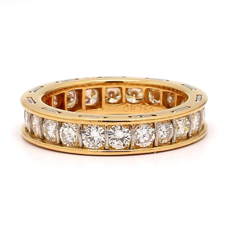 Cartier Serenade 18K Two-Tone Gold Diamond Eternity Ring - Sz. 4¼