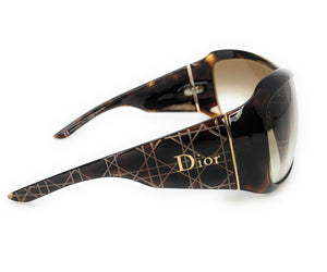 Authentic! Christian Dior Cannage 1 ATVYP Havana Brown Sunglasses 99-01-115