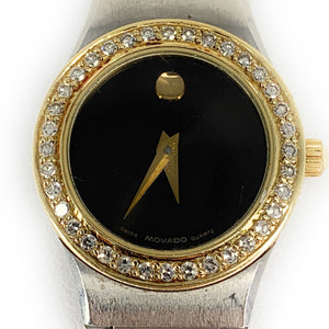 MOVADO Museum Two Tone Diamond Dial 85A1836L Ladies Watch