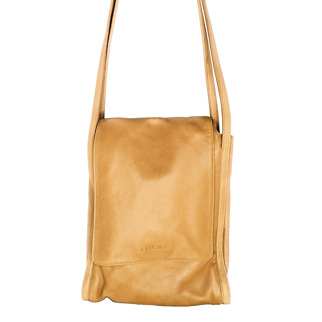 Loewe Madrid Caramel Nappa Shoulder Bag