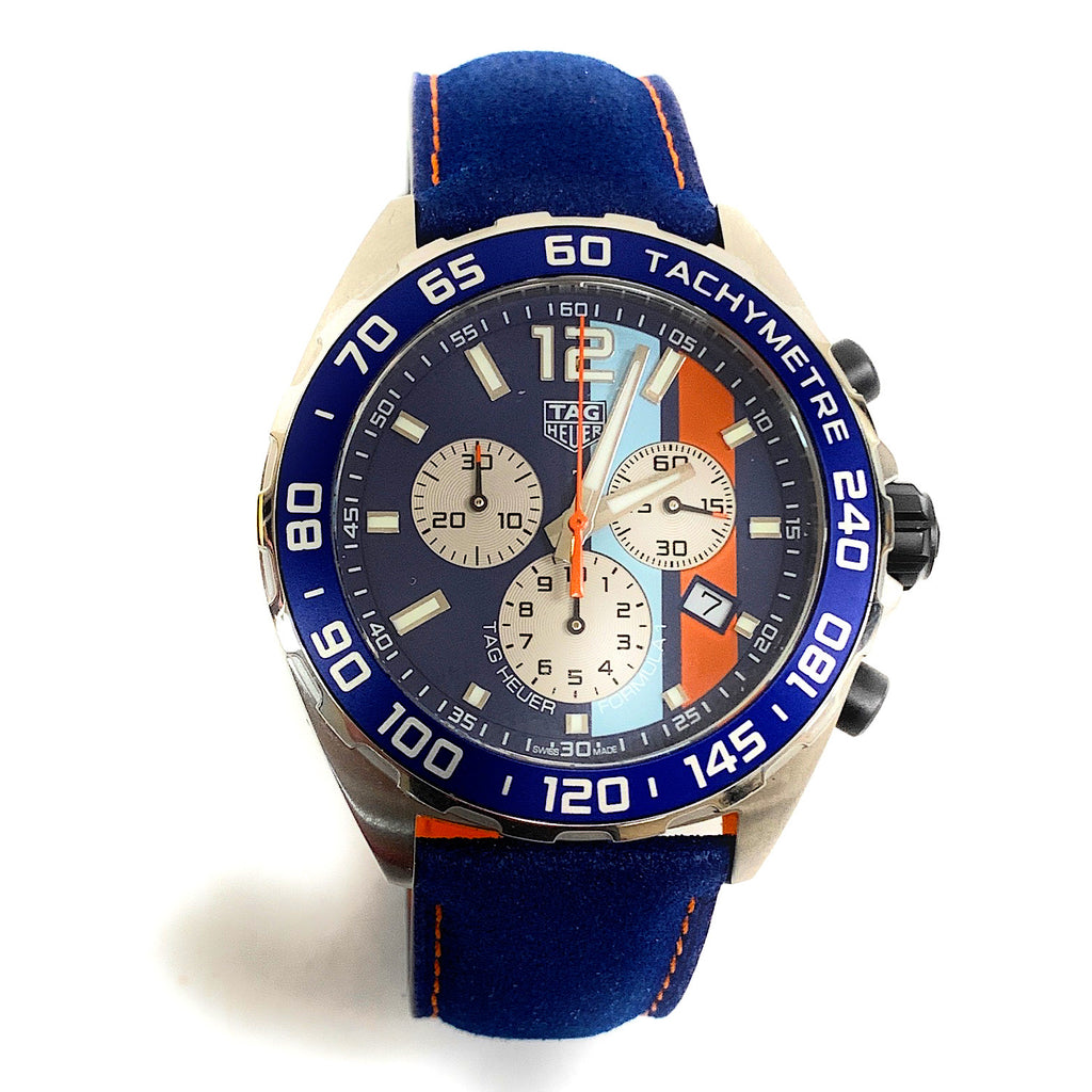 TAG Heuer Swiss Chronograph Formula 1 Gulf Edition Watch - CAZ101N.FC8243