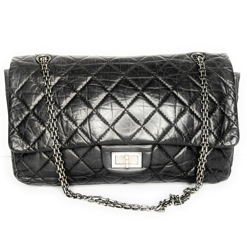 Chanel Aged Calfskin Quilted Reissue 277 Double Flap Bag