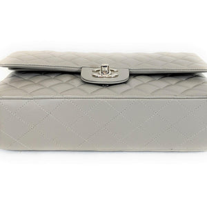 Chanel Classic Quilted Mini Rectangular Double Flap Grey