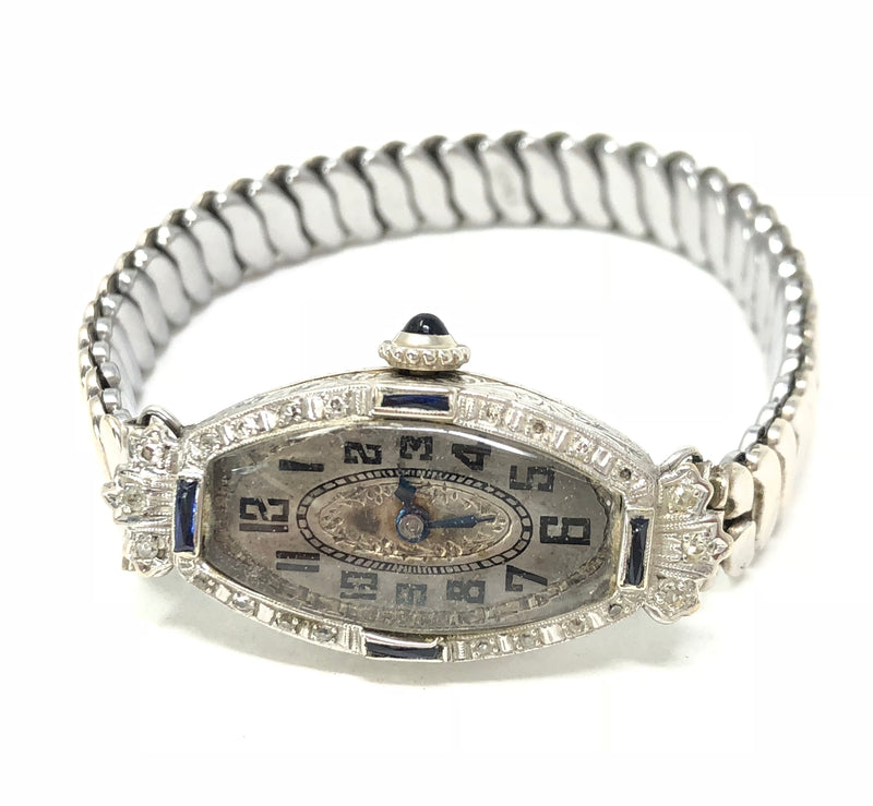 Antique 14K White Gold Deco Ladies Watch