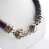 Barry Kieselstein Cord Sterling Silver & Large Thick Leather Frog Necklace