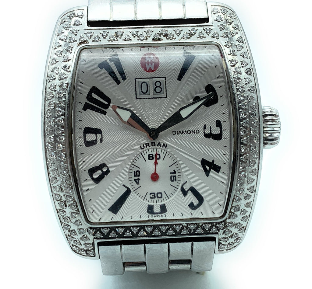 MICHELE Urban Diamond Stainless Steel Ladies Watch