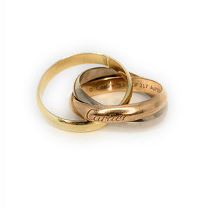 Trinity De Cartier 18K Tri-Color Vintage Gold Ring