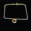 Tiffany & Co Elsa Peretti 18K Rose Gold Sterling Silver Heart Pendant Bracelet