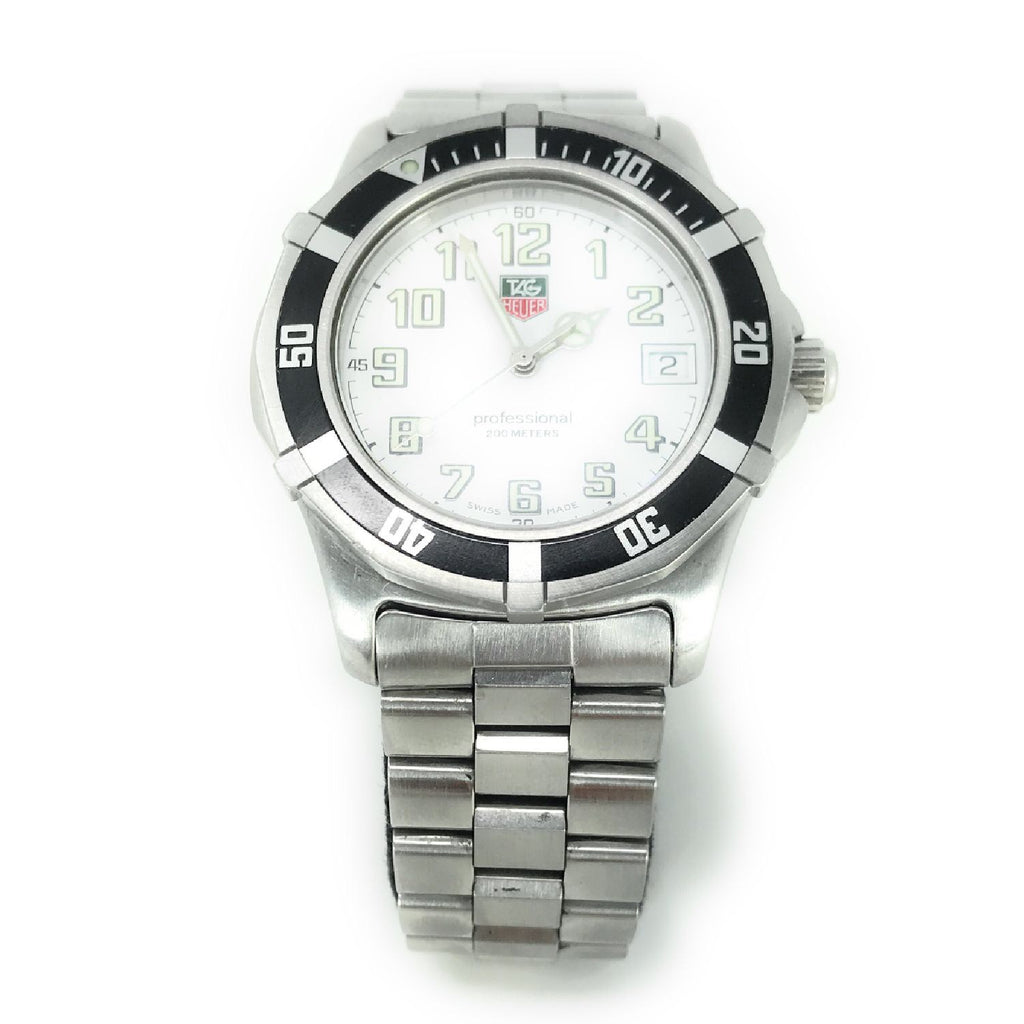 Men's Tag Heuer Carrera Caliber Professional WM1111 200m Stainless Steel Quartz Wristwatch