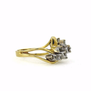 Two-Tone 14KT Gold & Diamond Ring - Sz. 5.75