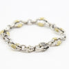 Scott Kay Sterling Silver and 18K Yellow Gold Chain Bracelet