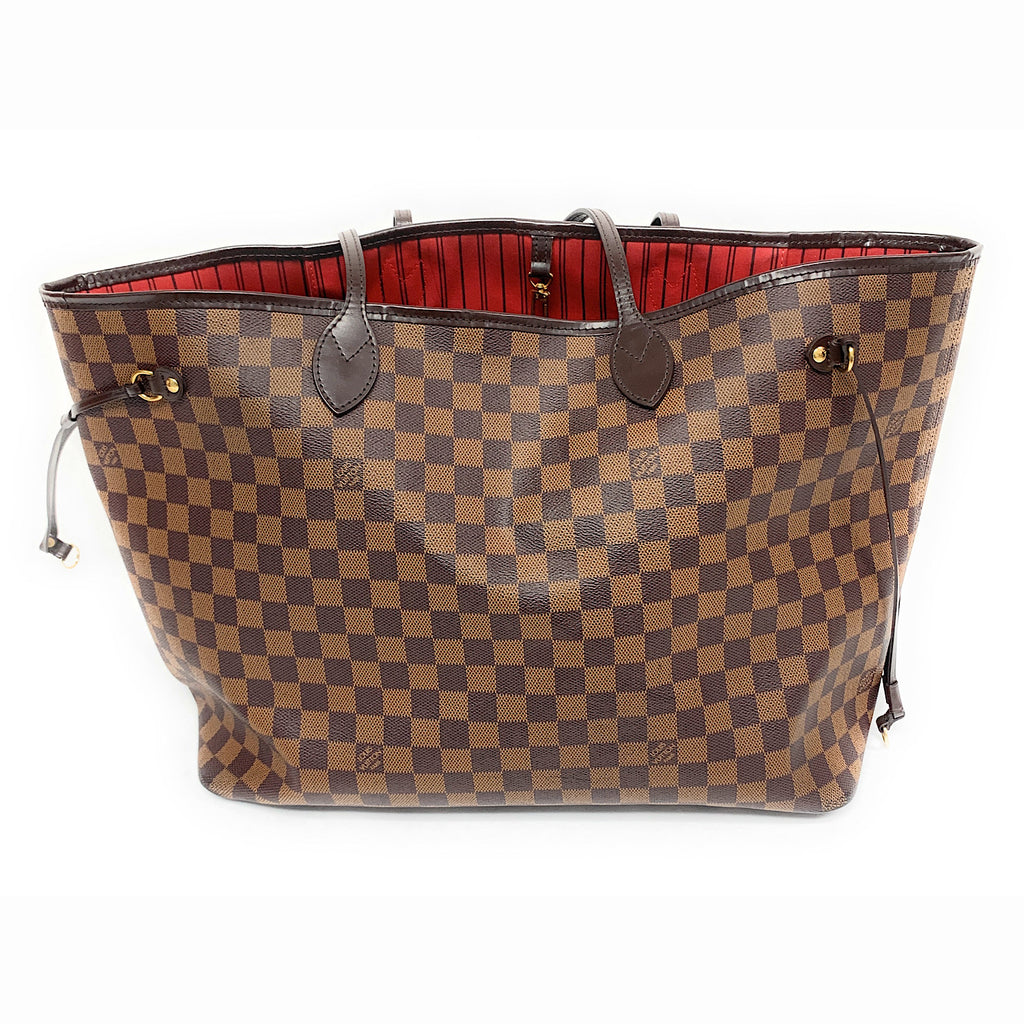 AUTHENTIC! Louis Vuitton Damier Ebene Neverfull GM Tote