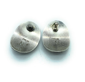 Vintage 1960's Navajo Sterling Silver Earrings (2 pair)