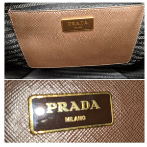 Prada Saffiano Lux Medium Double Zip Tote