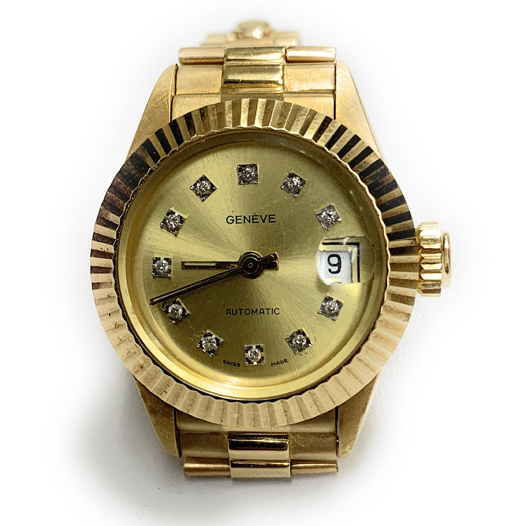 Geneve 18K Gold Women's Automatic Italgold Automatic Watch - Diamond Marker