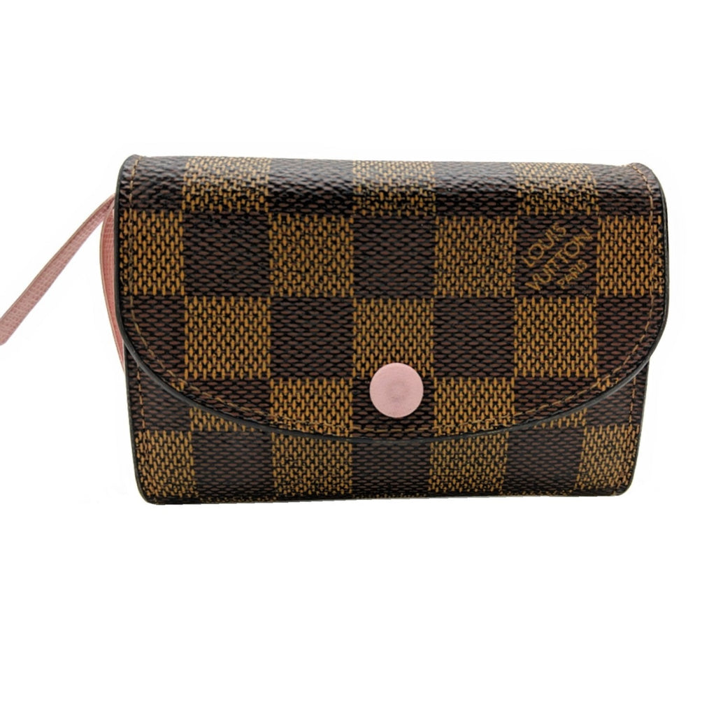 Louis Vuitton Damier Ebene Rosalie Coin Purse Rose Ballerine