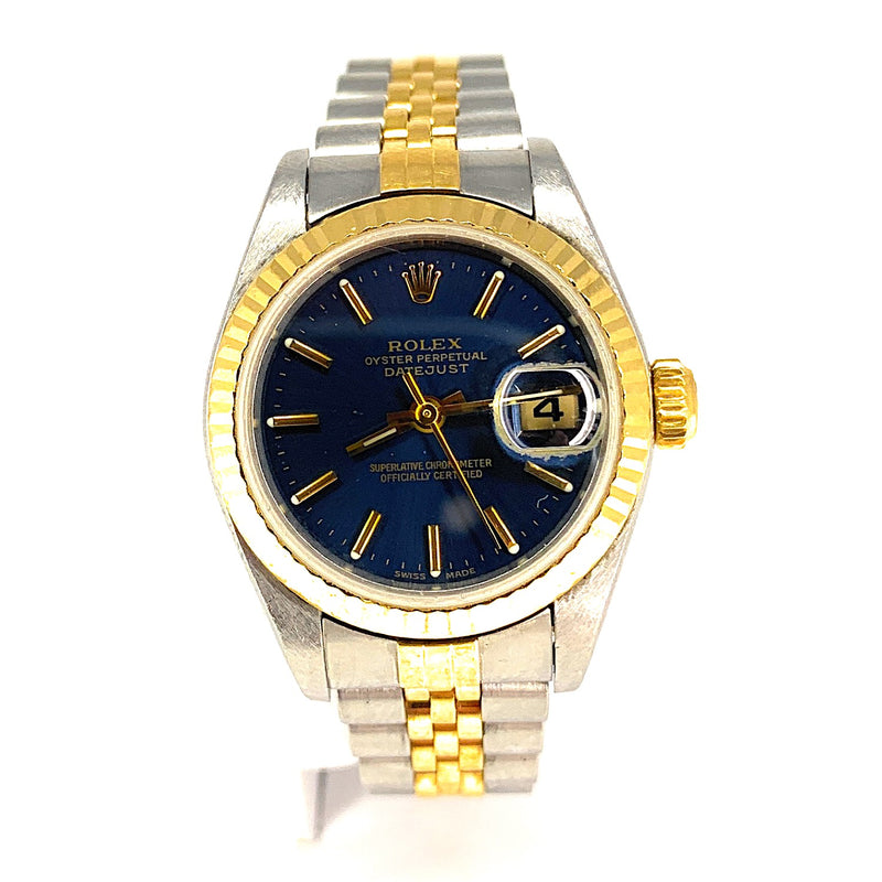ROLEX 18K Gold & Stainless Steel Women's Datejust Watch