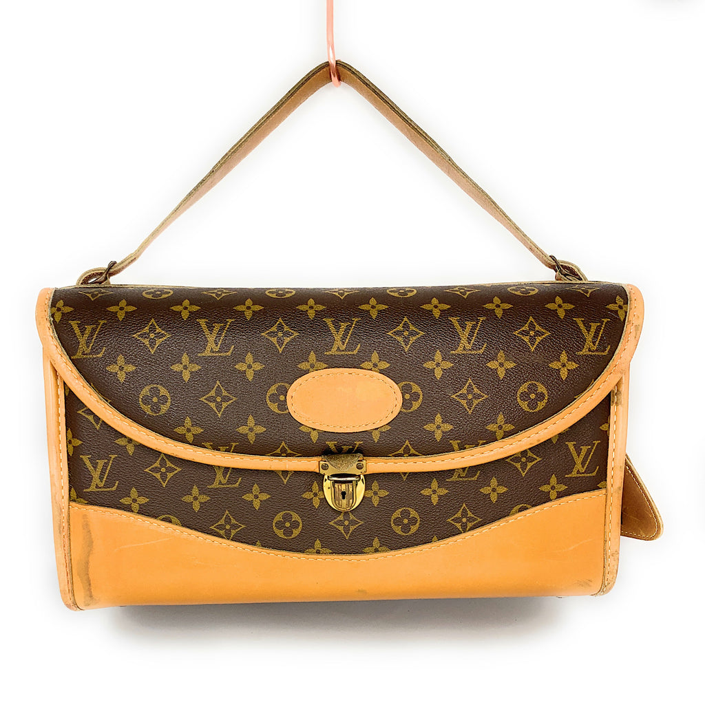 AUTHENTIC! LOUIS VUITTON Monogram Vintage Canvas Weekend Cosmetic Travel Case