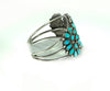 Navajo Sterling Silver and Turquoise Petit Point Cuff Bracelet - Signed ADF