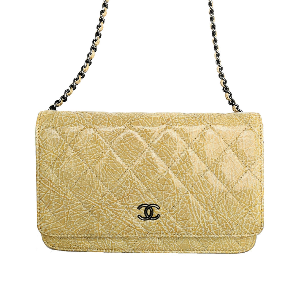 Chanel 2008 Light Beige Wallet On Chain WOC