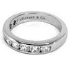 Tiffany & Co. Platinum Diamond Half-Eternity Ring - Sz. 5.25