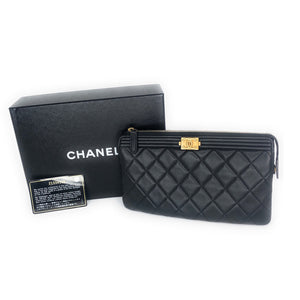 Chanel O Case Lambskin Clutch
