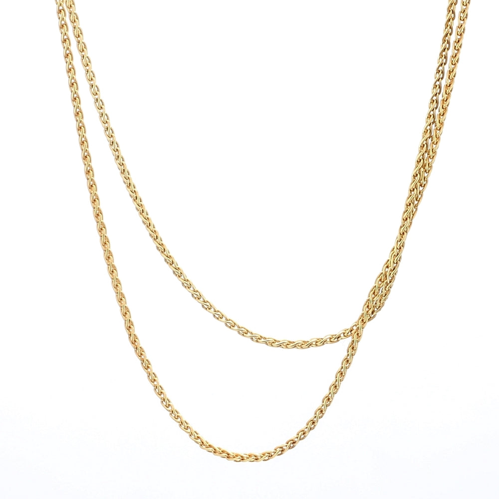 Roberto Coin 18K Gold Round Wheat Chain Necklace
