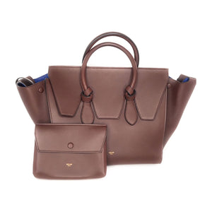 Celine Smooth Calfskin Tie Handbag Chocolate
