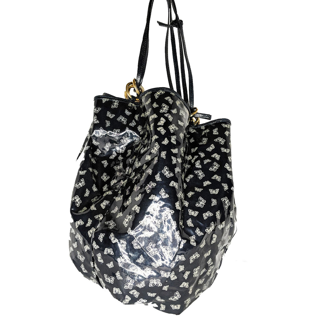 Bottega Veneta Vintage Vinyl Coated Butterfly Bucket