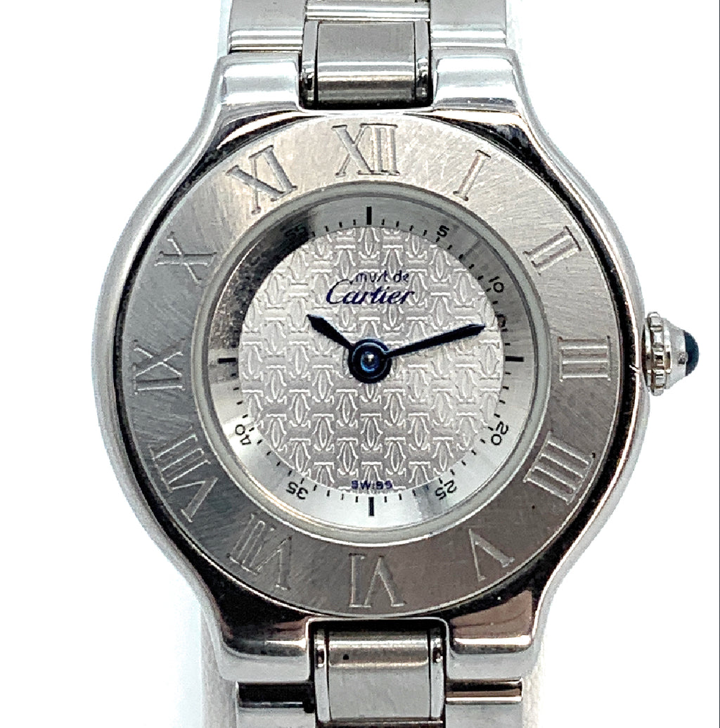 Cartier 'Must de Cartier 21' 1330 Stainless Steel Ladies Watch