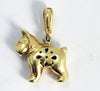 18KT Yellow Gold Chimento Schnauzer Dog Charm Pendant