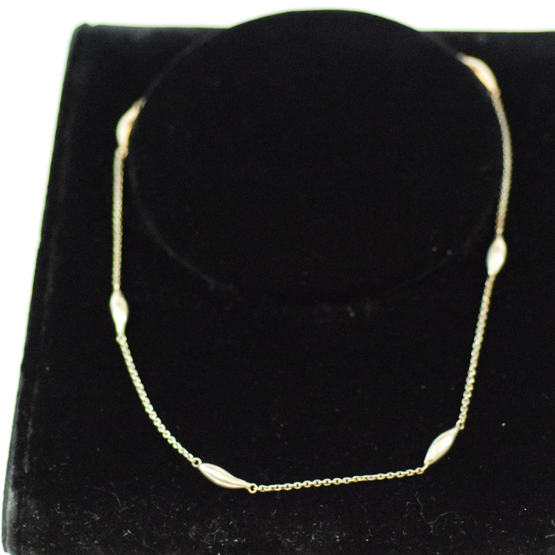 Sterling Silver Custom Made Teardrop Bead Chain Necklace
