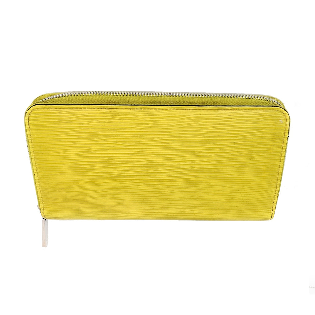 Louis Vuitton Yellow EPI Leather Zippy Wallet
