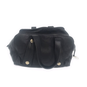 Chanel Black Grained Calfskin Bolt Bowler Bag