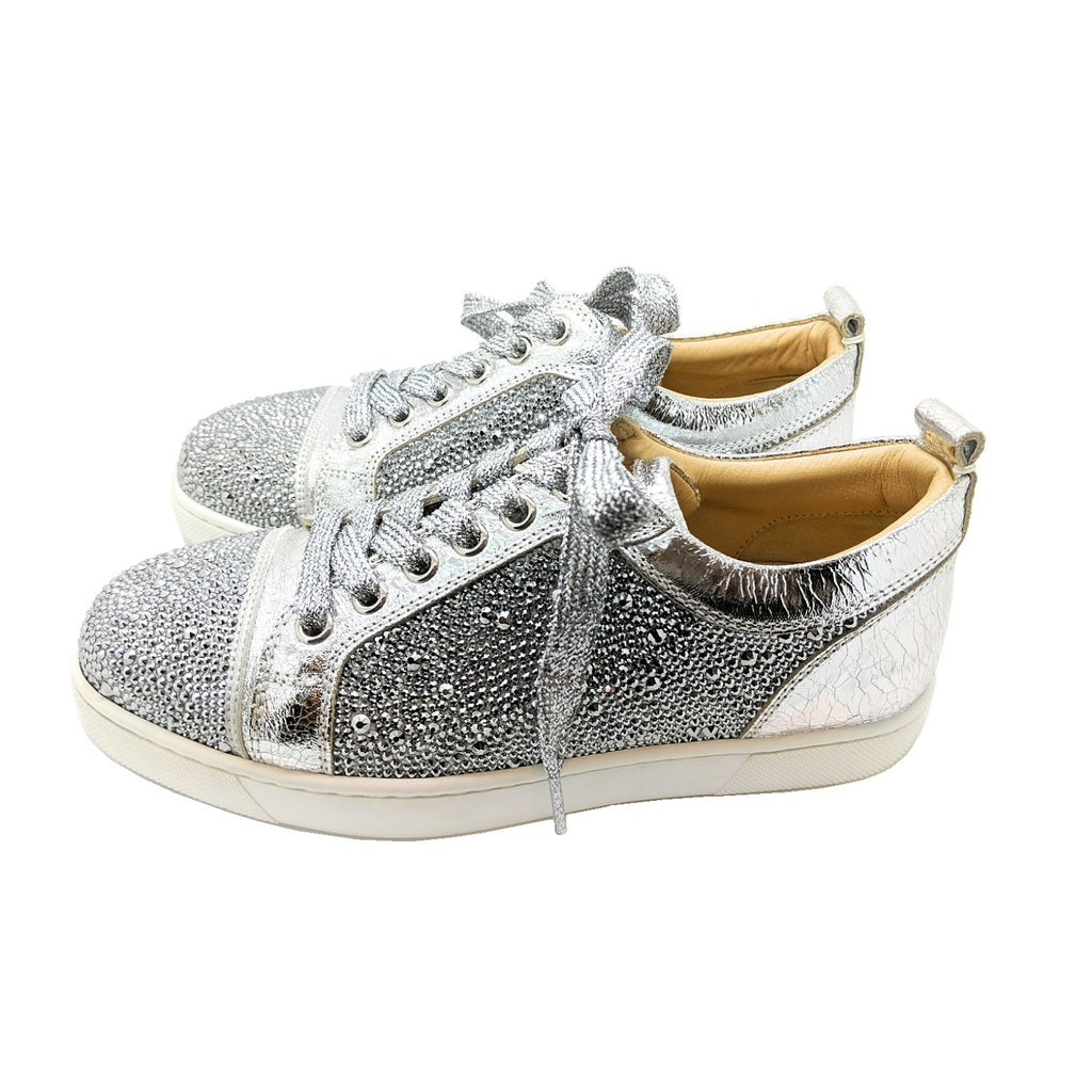 Christian Louboutin Louis Junior Strass Flat Sneakers 35