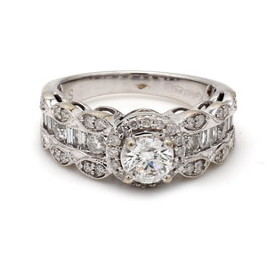 Kallati 14K White Gold 1.25ctw Diamond Engagement Ring - Sz. 6.5