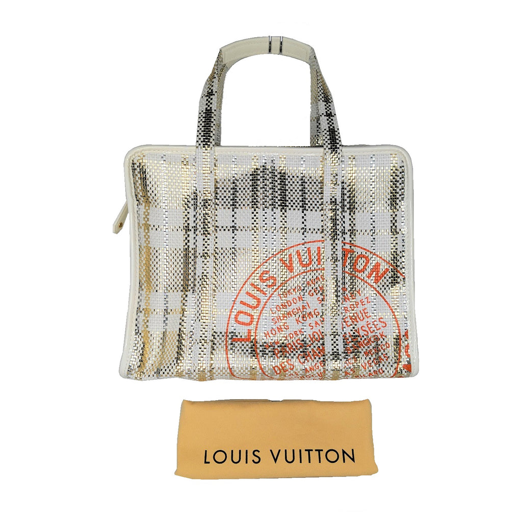 Louis Vuitton Gold Braided Street Shopper PM