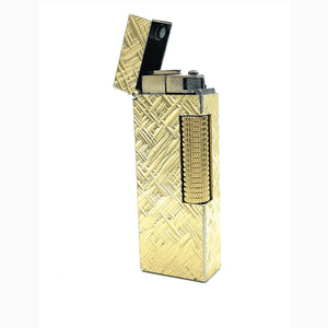 RARE Vintage Alfred Dunhill Gold Plated Rollagas Lighter
