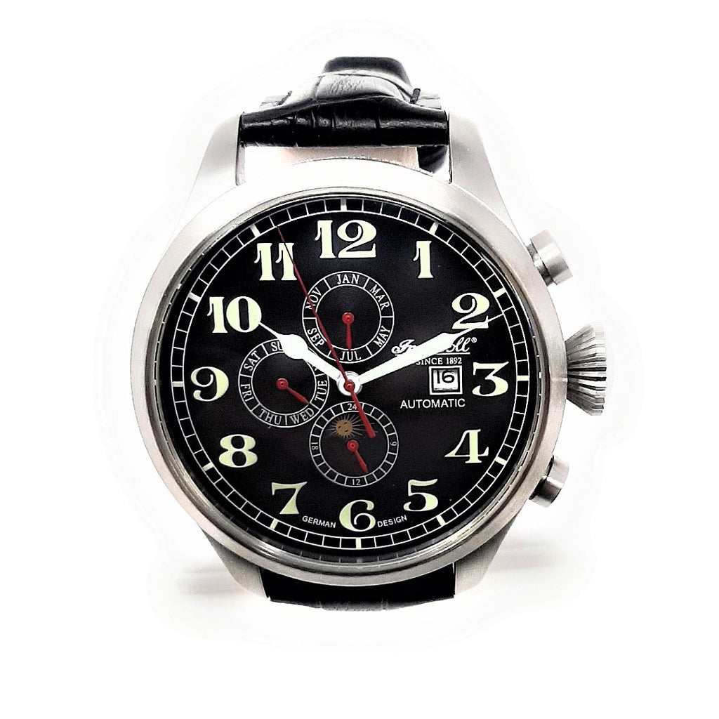 Ingersoll IN1616 Mens 21 Jewels Automatic Limited Edition Black Dial Watch IN1616BK