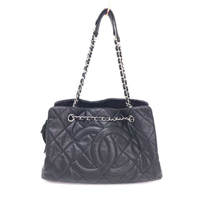 Chanel Black Timeless Classic Caviar Quilted Tote