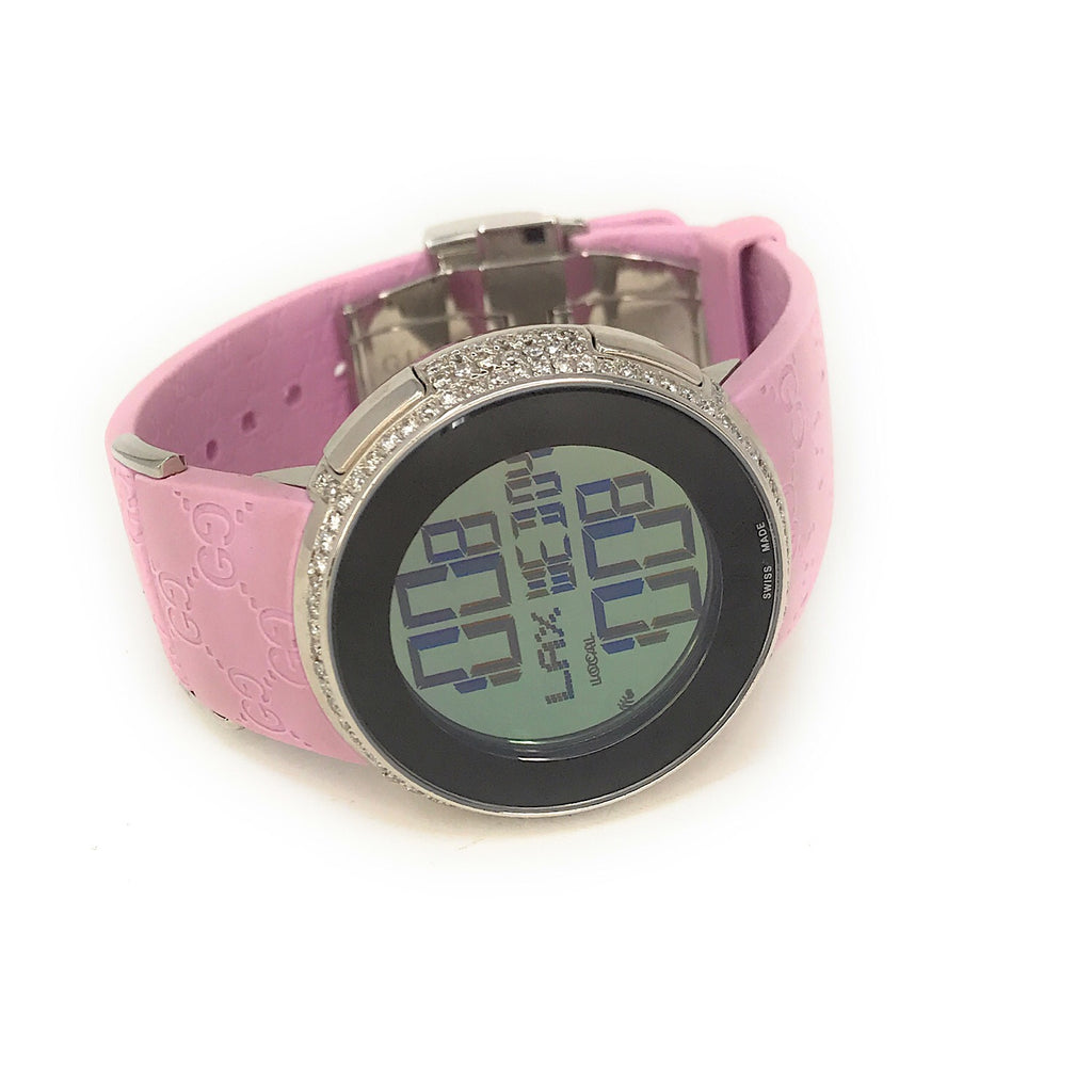 Gucci I-Gucci Diamond Bezel Ladies Pink Digital Watch