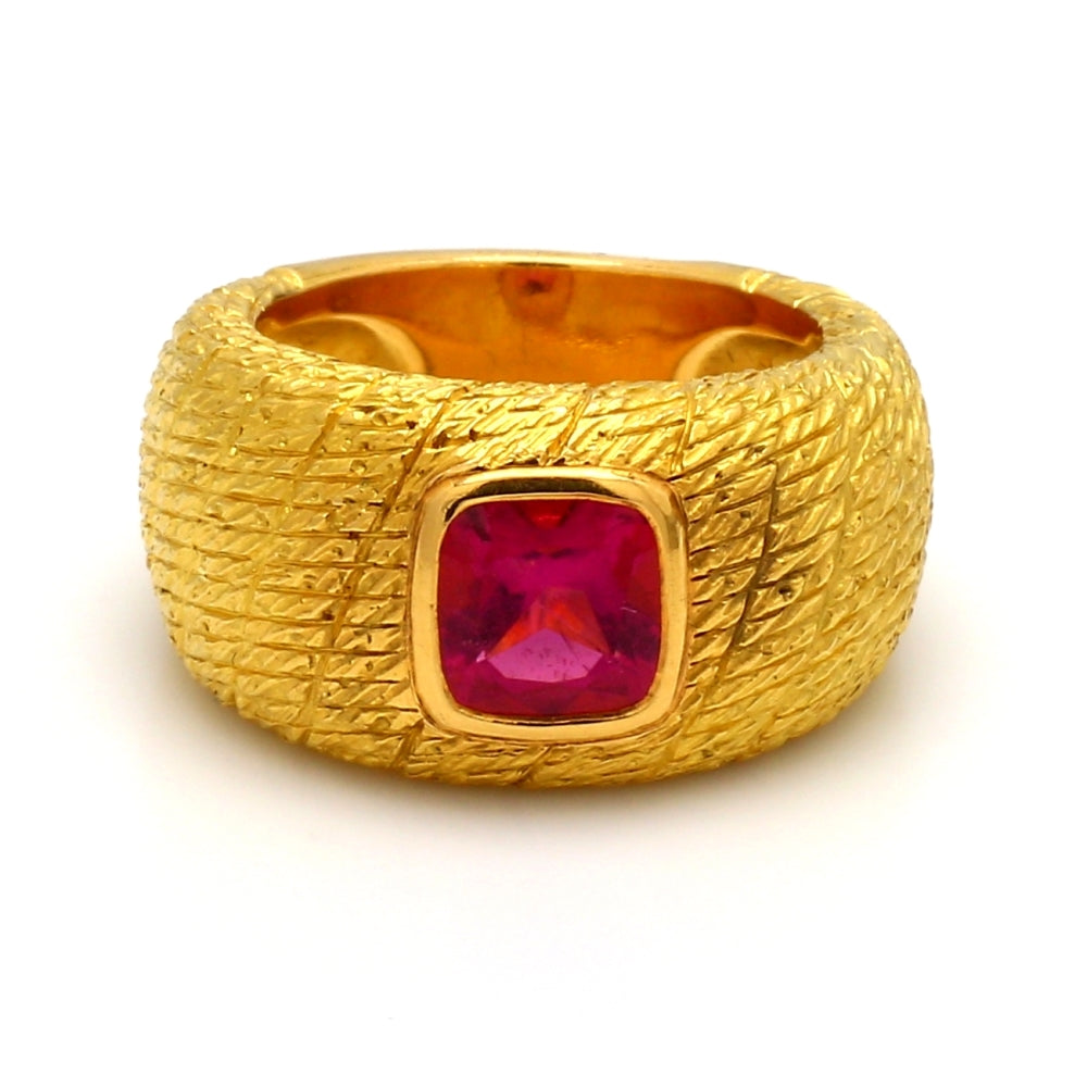 Van Cleef & Arpels 18K Yellow Gold & 2.00ct Pink Tourmaline Ring - Sz. 6.25