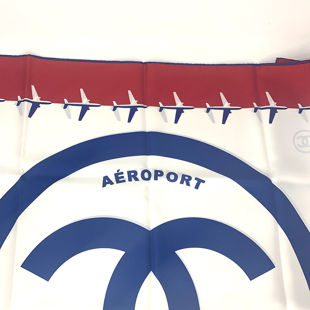 "Chanel CC Logo ""Aeroport"" Airline Scarf/Wrap"