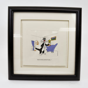 "Warner Bros ""Just One More"" Sylvester and Tweety Etching, 1995 Limited Edition"