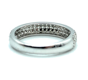 10K White Gold Half Eternity 0.50ctw Pavé Diamond Band - Sz.  5.75