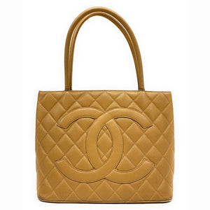 CHANEL Medallion Quilted Caviar Tote Bag