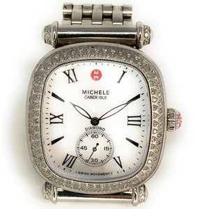 Michele Women's MWW16C01A2025 'Caber Isle' Diamond Stainless Steel Watch