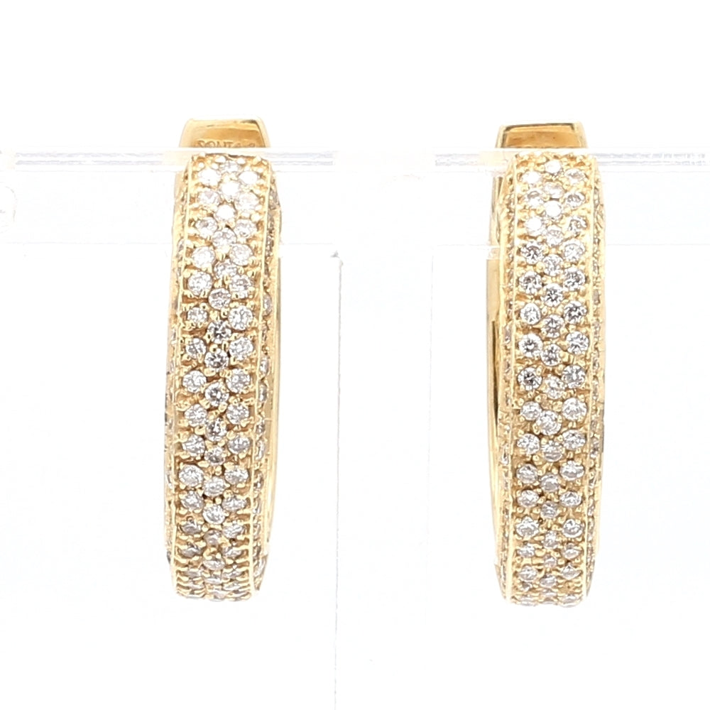 SoniaB 14k Yellow Gold & Diamond Huggie Oval Hoop Earrings